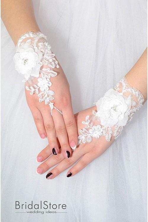 P03 короткие свадебные перчатки