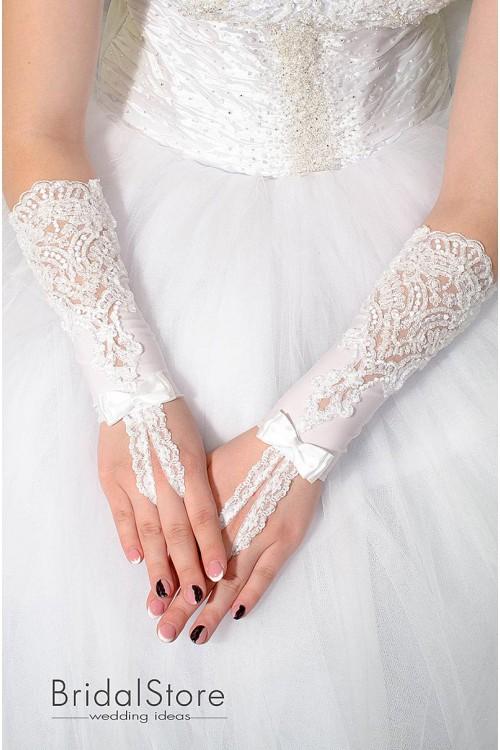 P12 кружевные свадебные перчатки