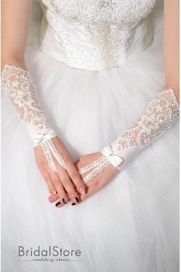 P13 кружевные свадебные перчатки