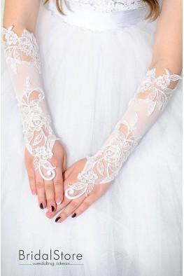 P24 свадебные перчатки до локтя