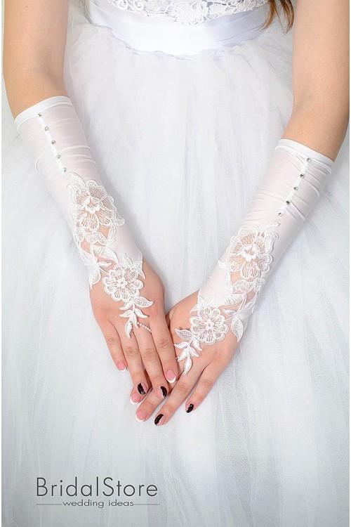 P27 свадебные перчатки на пальчик