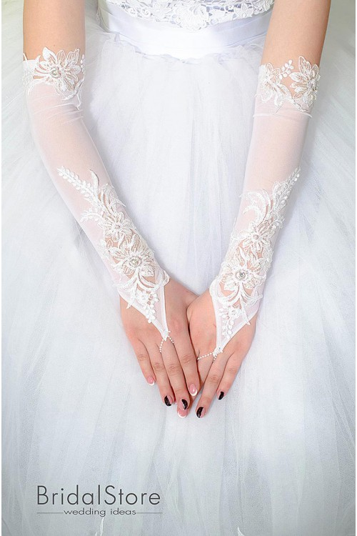 P29 длинные свадебные перчатки