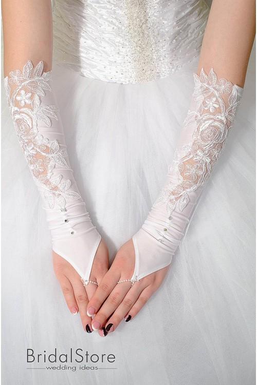 P30 свадебные перчатки выше локтя