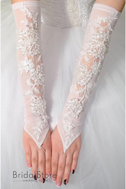 P32 длинные свадебные перчатки