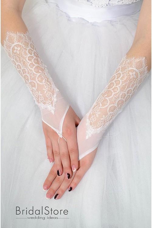 P33 кружевные свадебные перчатки