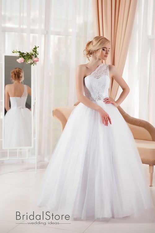 Ember – свадебное платье на одно плече