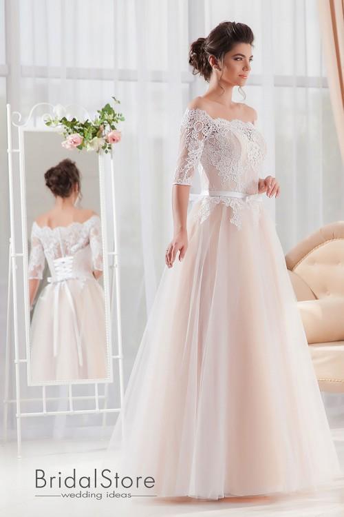 Emma - кружевное свадебное платье с рукавом.