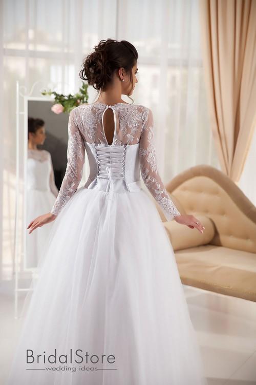 Erin - свадебное платье с длинными рукавами