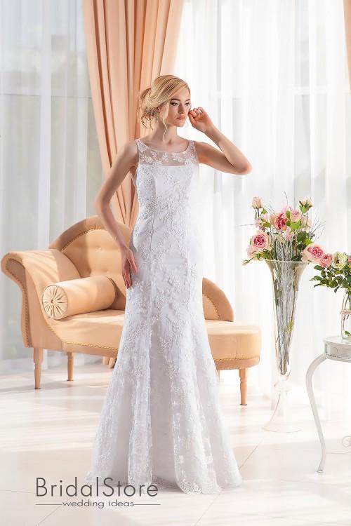 Layla - кружевное свадебное платье на бретелях