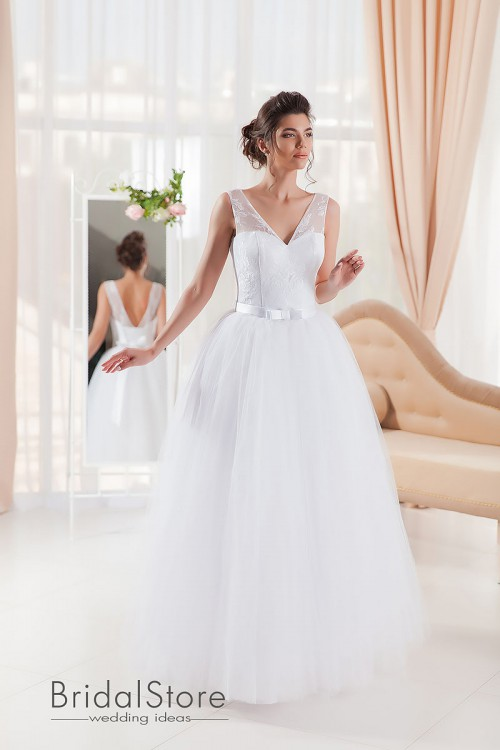 Naomi - свадебное платье с бретелями