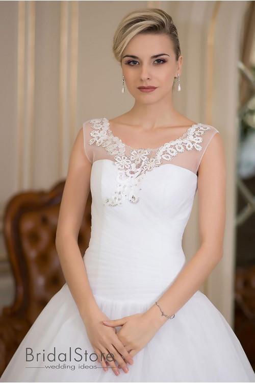 Victoria - шикарное свадебное платье с пышной юбкой