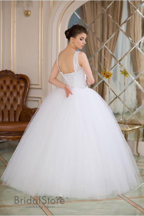 Lola - кружевное свадебное платье с бретелями