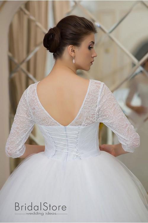 Vera - нежное свадебное платье  с рукавами