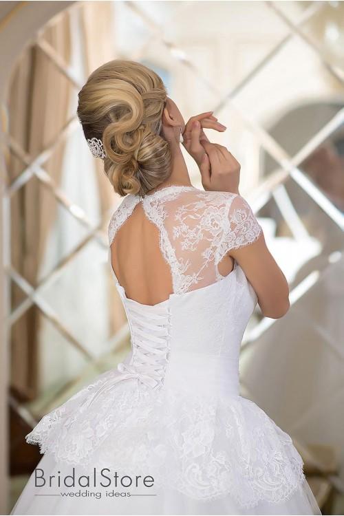 Amy - изысканное свадебное платье А-силуэт