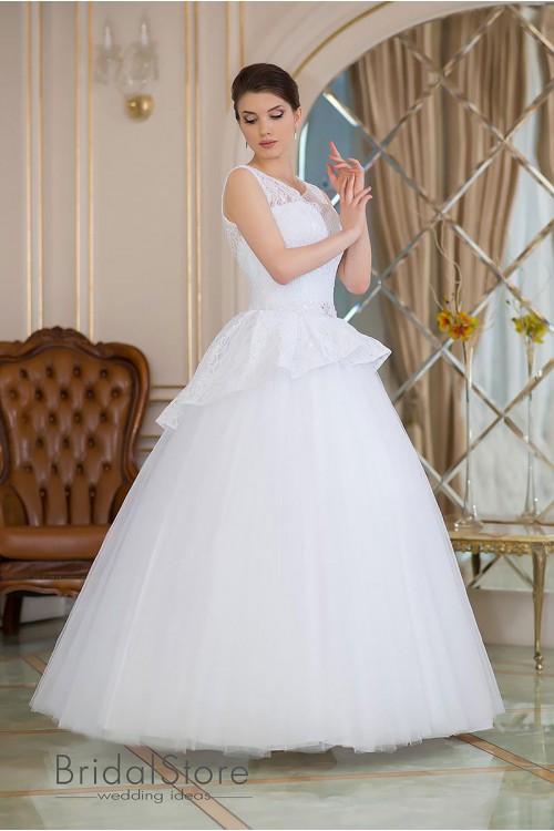 Angel - кружевное свадебное платье с бретелями