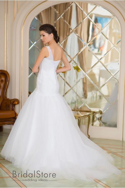 Emelia - свадебное платье годэ, с шлейфом
