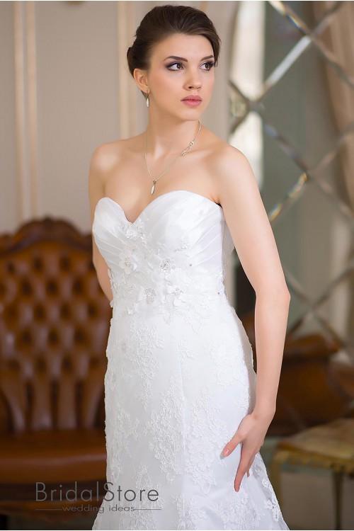 Livia - кружевное свадебное платье рыбка