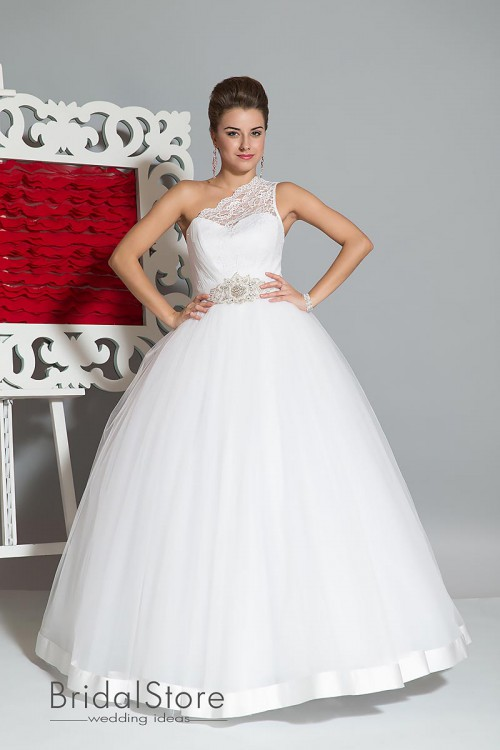 Katrina - пышное свадебное платье на одно плече