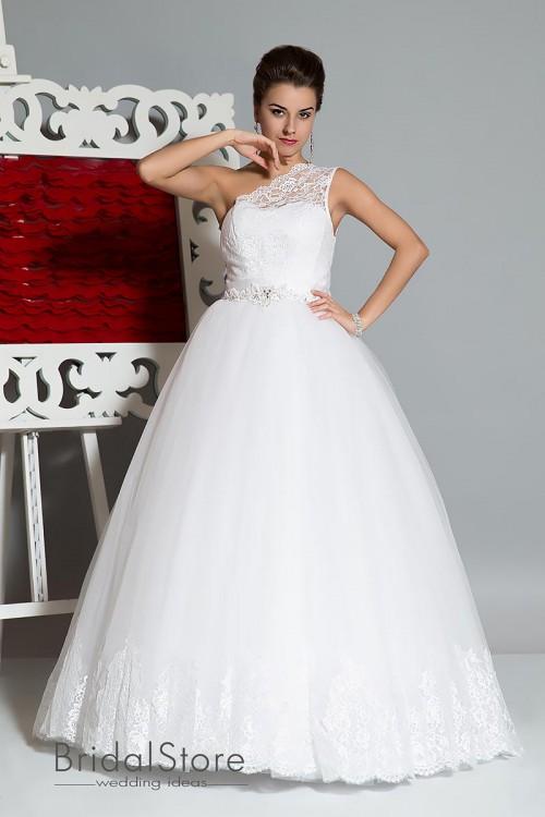 Lizzie - кружевное свадебное платье с пышной юбкой