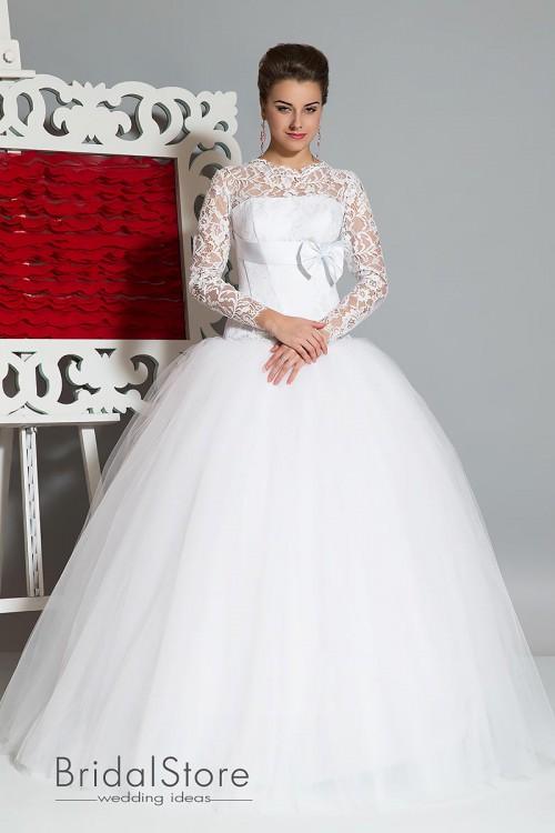 Susan - свадебное платье с рукавами