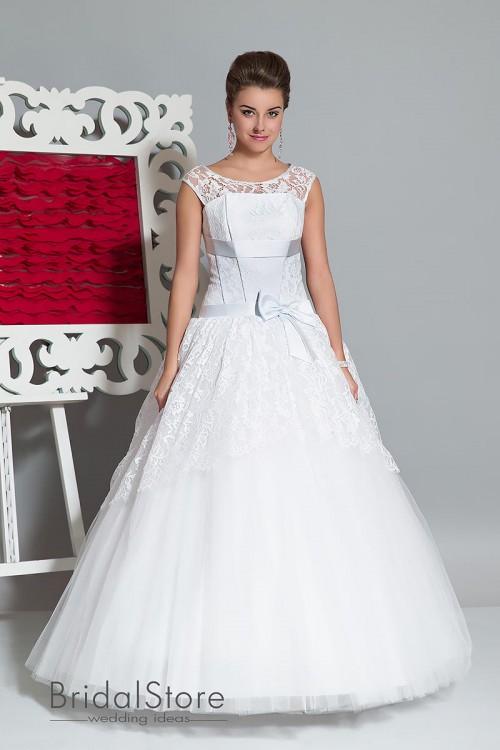 Cristina - свадебное платье с кружевными бретелями