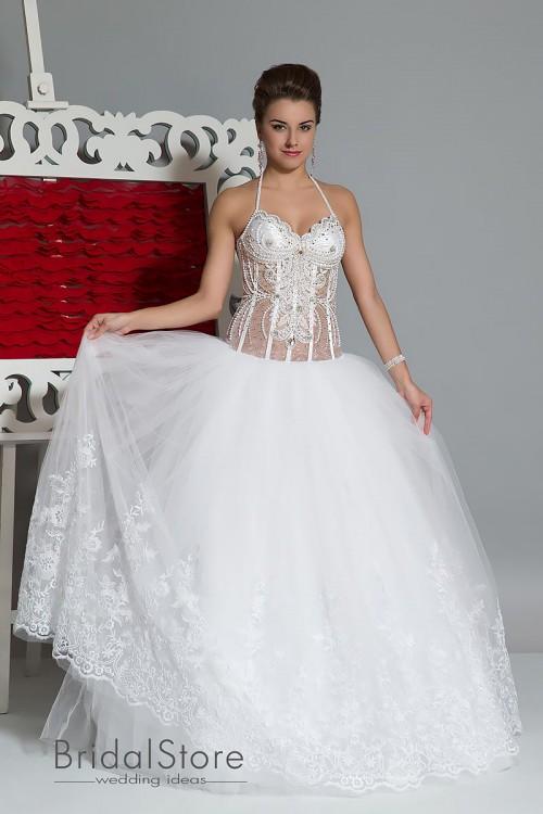Sonya - кружевное свадебное платье в стразах