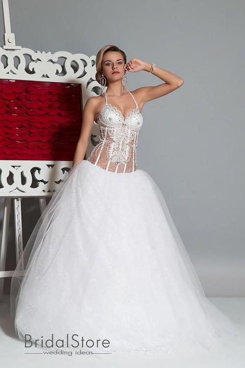 Addi - свадебное платье с блестящей юбкой