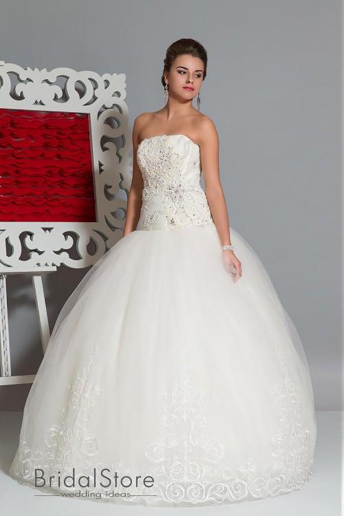 Adelia - пышное свадебное платье с кружевной юбкой