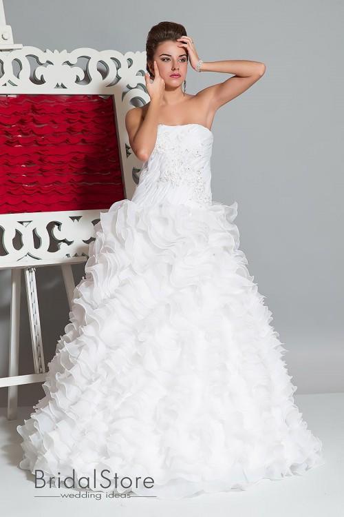 Sabina - свадебное платье воланами