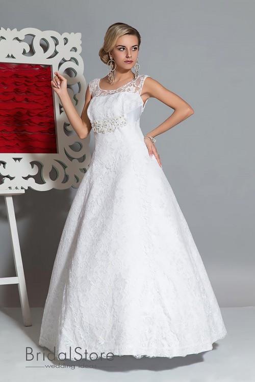 Nelly  - кружевное свадебное платье Ампирv